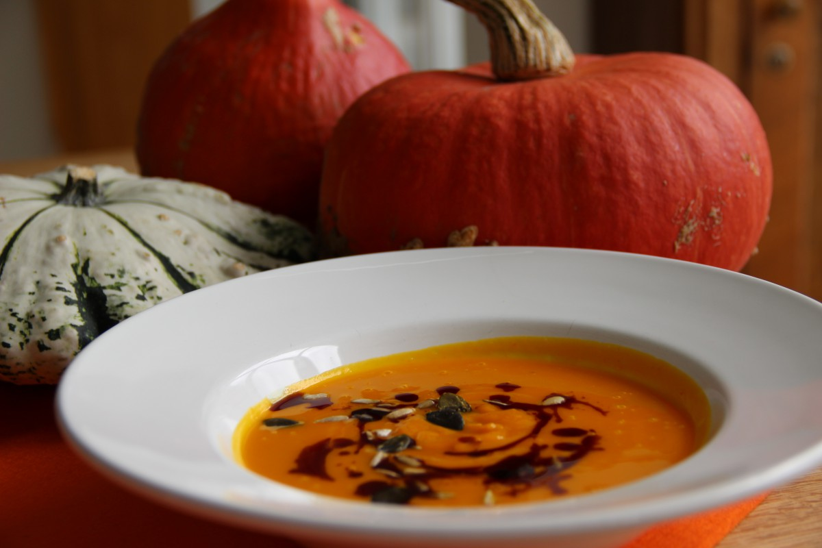 Suppe aus Kürbis